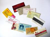 Необходимые технические условия для изготовления визиток