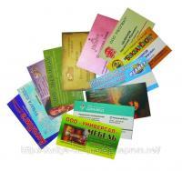 Выбор дизайна визиток